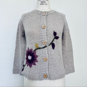 Zara Embroidered Cardigan